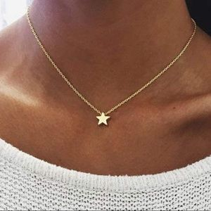 3/ $30 Gold Tone Mystic Star Charm Necklace